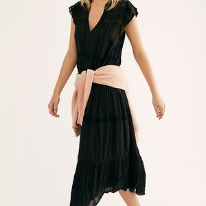 free people black midnight midi dress
